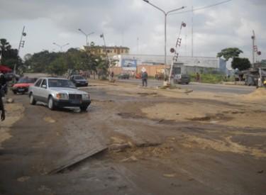 Zone portuaire d'Abidjan : Dégradation de la voie autour du rail