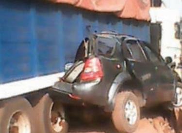 Gagnoa: Accident de la circulation : Un camion écrase un véhicule 4X4