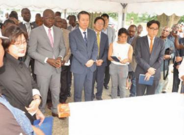 Bd Latrille : Amedée Kouakou a visité le chantier d'élargissement