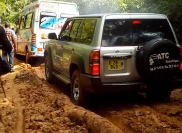 La route de Nézobly est devenue quasiment impraticable