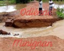 L'axe routier Odienné-Minignan coupé par les eaux de pluies